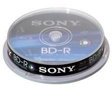 Sony Blu-Ray Disc 25GB 6x (10 Pack) - Inkjet Printer Compatible *Open Box*