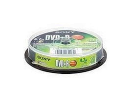 Sony DVD-R 4.7GB Spindle (10 Pack)