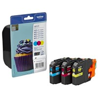 Brother LC123RBWBP (Yield: 600 Pages) Cyan/Magenta/Yellow Ink Cartridge