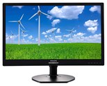 Philips S-Line 221S6QYMB (21.5 inch) LED Backlit LCD Monitor with SmartImage 1000:1 250cd/m2 1920x1080 14ms DisplayPort/DVI-D/VGA (Black)