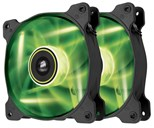 Corsair Air Series SP120 High Static Pressure Fan (120mm) with Green LED (Twin Pack)