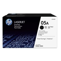 HP 05A (Yield: 2,300 Pages) Black Toner Cartridge Pack of 2