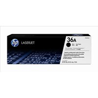 Bundle: HP 36A (Yield: 2,000 Pages) Black Toner Cartridge Pack of 2