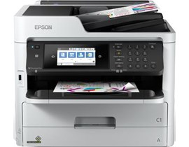 Epson WorkForce Pro WF-C5710DWF (A4) Colour Inkjet Printer (Print/Copy/Scan/Fax) 10.9cm Colour LCD 34ppm (Mono) 34ppm (Colour) 45,000 (MDC)