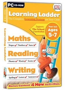 Avanquest (DK) Learning Ladder (Maths/Reading/Writing) - Years 1 & 2 for Ages 5 to 7