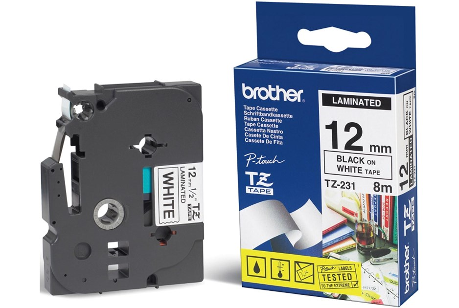 Brother p Touch tz Tape tz 231 4 Value Pack tz 231 Brother tz 231 Black on White p Touch Tape Toner Ink