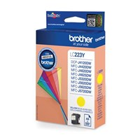 Brother LC223Y (Yield: 550 Pages) Yellow Ink Cartridge