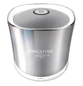 Creative Woof3 Premium Full-Featured Personal Micro-Sized Bluetooth MP3/FLAC Speaker (Winter Chrome)