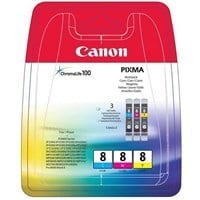 Canon CLI-8CMY (Yield: 420 Pages) Cyan/Magenta/Yellow Ink Cartridge Pack of 3