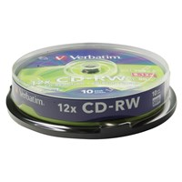 Verbatim CD-RW 700MB 80min 12 x Hi Speed DataLife