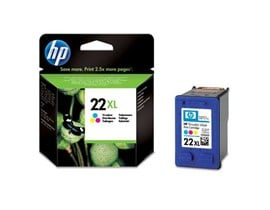 HP 22XL High Capacity Tri-Colour Inkjet Print Cartridge