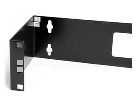 StarTech.com 2U 19 inch Hinged Wall Mount Bracket for Patch Panels (Black)