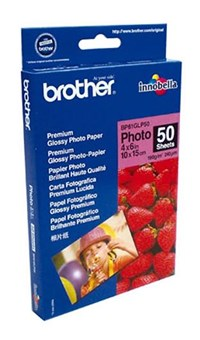 Brother BP61GLP Innobella Premium Plus Glossy (6 x 4 inch) Photo Paper (Pack of 50 Sheets)