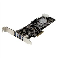StarTech.com 4 Port Dual Bus PCI Express (PCIe) SuperSpeed USB 3.0 Card Adaptor with UASP - SATA/LP4 Power
