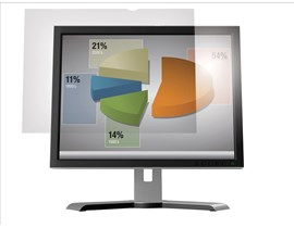3M AG19.5W1B Frameless Anti-Glare Clear Screen Filter for 19.5  inch Widescreen Desktop LCD Monitors