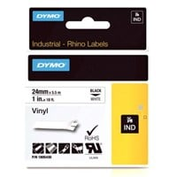 Dymo (24mm) Coloured Vinyl Tape (Black on White) for Dymo RhinoPRO 6000 Printers
