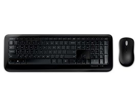 Microsoft 850 Wireless Desktop Keyboard and Optical Mouse 2.4GHz (Black)