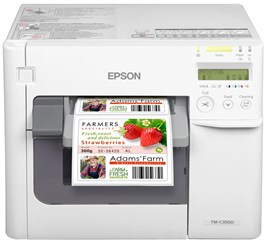 Epson ColorWorks TM-C3500 (012CD) Colour Serial Label Inkjet Printer 103mm/sec Print Speed, 720x360dpi, 104mm Print Width, USB/Ethernet, Nice Label CD