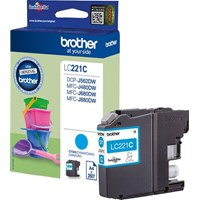 Brother LC221C (Yield: 260 Pages) Cyan Ink Cartridge