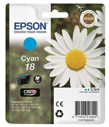 Epson Daisy 18 Series T1802 Cyan Ink Cartridge (Yield 180 Pages) RS Blister