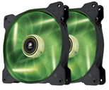 Corsair Air Series SP140 High Static Pressure Fan (140mm) with Green LED (Twin Pack)