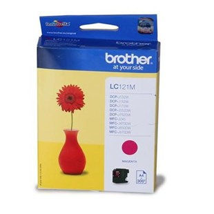 Brother LC121M (Yield: 300 Pages) Ink Cartridge (Magenta)