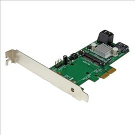 StarTech.com 3 Port PCI Express 2.0 SATA III 6 Gbps RAID Controller Card with mSATA Slot and HyperDuo SSD Tiering