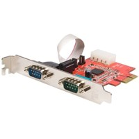 StarTech.com 2 Port Native PCI Express RS232 Serial Adaptor Card with 16950 UART Serial Adaptor PCI Express x1 low profile RS-232 2 ports