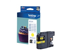 Brother LC123Y (Yield: 600 Pages) Yellow Ink Cartridge