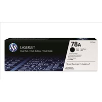 Bundle: HP 78A (Yield: 2,100 Pages) Black Toner Cartridge Pack of 2