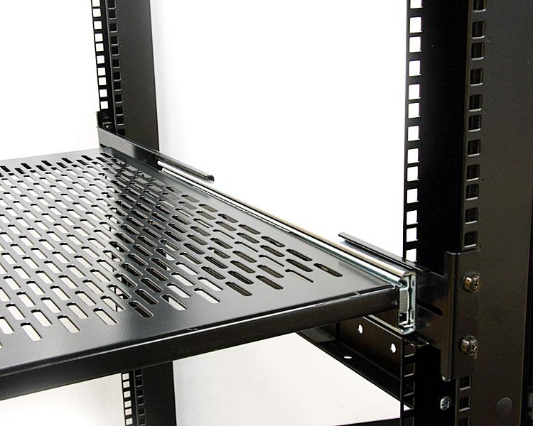 StarTech.com 19 inch Vented Adjustable Depth Sliding Server Rack ...