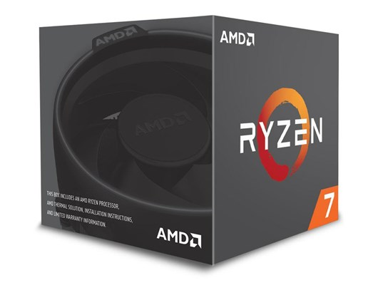 AMD Ryzen 7 2700, 8 Cores, 16 Threads, 3.2GHz Base, 4.1GHz Turbo, 20MB Cache, 65W TDP, Socket AM4 Processor with Wraith Spire LED Cooler *Open Box*