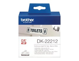 Brother DK Labels DK-22212 (62mm x 15.2m) Continuous White Film Tape