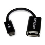 StarTech.com (4 inch) Micro USB to USB OTG (On the Go) Host Adapter M/F