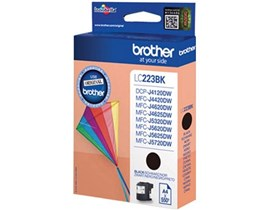 Brother LC223BK (Yield: 550 Pages) Black Ink Cartridge
