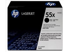 HP 55X Black Smart Print Cartridge (Yield 12,500 Pages) for HP LaserJet P3015