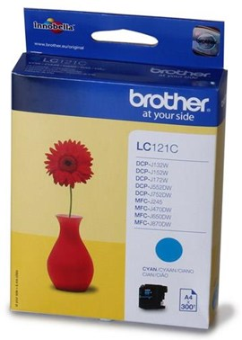 Brother LC121C (Yield: 300 Pages) Ink Cartridge (Cyan)