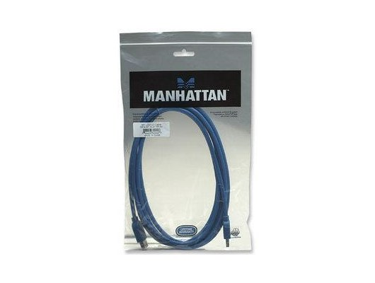 Manhattan SuperSpeed USB 3.0 Extension Cable (3m) A Male / A Female (Blue)