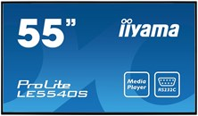 Iiyama ProLite LE5540S (55 inch) LED Backlit LCD Display 1200:1 350cd/m2 (1920x1080) 8ms VGA/DVI/HDMI (Black)