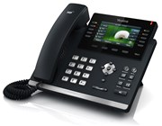 Yealink T46GN Revolutionary IP Phone 4.3 inch LCD Colour 6-VoIP Power Over Ethernet (PoE) VPN (Black)