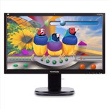 ViewSonic VG2437Smc (24 inch) TFT LCD Monitor 3000:1 250cd/m2 1920 x 1080 56.9ms VGA/DVI  with Integrated Webcam (Black)