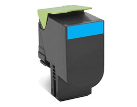 Lexmark Return Program 702C (Yield: 1,000 Pages) Cyan Toner Cartridge