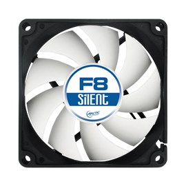 Arctic F8 Silent (80mm) 3-Pin Case Fan with Standard Case
