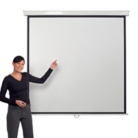Metroplan Eyeline (1800mmx1800mm) Square 1:1 Presenter Wall Projection Screen (White)