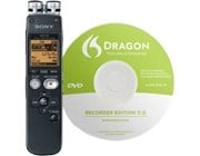 Sony ICDSX712DB 2GB voice recorder, Dragon software included