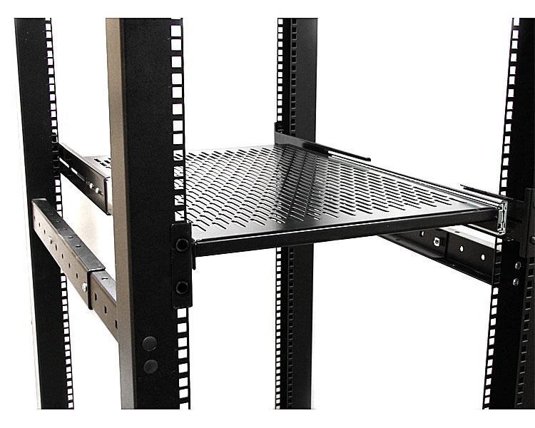 startech com 19 inch vented adjustable depth sliding server rack cabinet shelf unisldshf19. Black Bedroom Furniture Sets. Home Design Ideas
