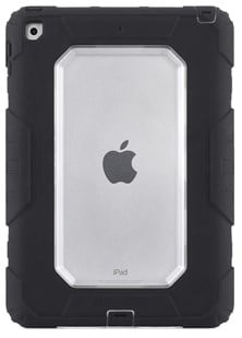 Griffin Survivor All-Terrain Rugged Tablet Case (Black/Clear) for Apple iPad 9.7 (2017)