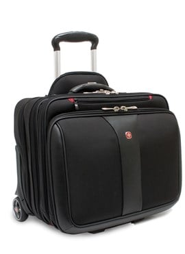 Wenger WA-7453-02F00 Patriot 15.4-inch Laptop Roller Case with Matching Laptop Case (Black)