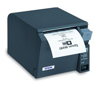 Epson TM-T70II (032A0) Mono POS Thermal Line Receipt Printer 180dpi 250mm/sec Dark Grey (UK) with USB/Serial, Power Supply