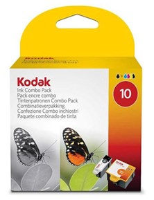 Kodak (No. 10) Colour Ink and Black Ink Cartridges